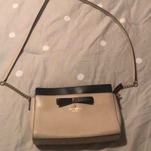 Kate Spade nude and black crossbody purse